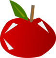 Free Stock Photo: Illustration of a shiny red apple