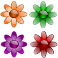 Free Stock Photo: Illustration of a set of flowers