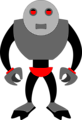Free Stock Photo: Illustration of a grey cartoon robot