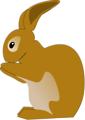 Free Stock Photo: Illustration of a brown rabbit