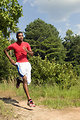 Free Stock Photo: An African American man jogging outdoors
