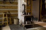 Free Stock Photo: A wood burning stove in a home