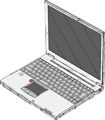 Free Stock Photo: Illustration of a laptop computer