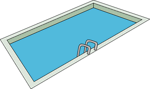 Free Stock Photo: Illustration of a swimming pool