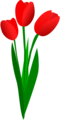 Free Stock Photo: Illustration of red tulips