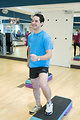 Free Stock Photo: Men and women performing aerobic exercises