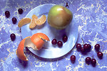Free Stock Photo: A plate with mixed fruit