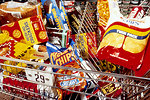 Free Stock Photo: Unhealthy snacks ina shopping cart