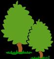 Free Stock Photo: Illustration of trees