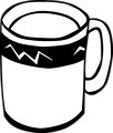 Free Stock Photo: Illustration of a coffee mug
