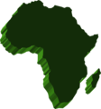 Free Stock Photo: Illustrated map of Africa
