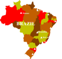 Free Stock Photo: Illustrated map of Brazil