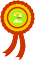 Free Stock Photo: Illustration of a second place ribbon