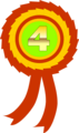 Free Stock Photo: Illustration of a fourth place ribbon
