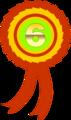 Free Stock Photo: Illustration of a sixth place ribbon