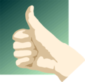 Free Stock Photo: Illustration of a hand giving a thumbs up