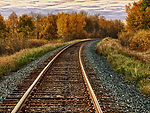 Free Stock Photo: Railroad Track On A Fall Day