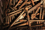Free Stock Photo: Rusty screws