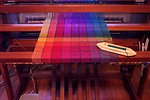 Free Stock Photo: Colorful thread on a loom
