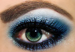 Free Stock Photo: Blue Eye shadow