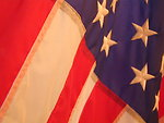 Free Stock Photo: American flag close-up