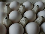 Free Stock Photo: Closeup of eggs in a carton