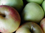 Free Stock Photo: Closeup of green apples