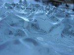 Free Stock Photo: Closeup of wave shaped ice