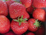 Free Stock Photo: Closeup of big red strawberries