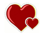 Free Stock Photo: Illustration of laced red hearts