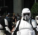 Free Stock Photo: Biker Scout costume in the 2008 Dragoncon parade
