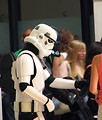 Free Stock Photo: Two men posing in Stormtrooper costumes at Dragoncon 2008