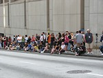 Free Stock Photo: Spectators waiting for 2008 Dragoncon parade