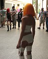 Free Stock Photo: Beautiful woman in a 5th Element costume at Dragoncon 2008