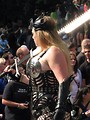 Free Stock Photo: Tall blonde barbarian costume with sword in the 2008 Dragoncon parade