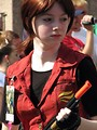 Free Stock Photo: A young girl with a gun in the 2008 Dragoncon parade