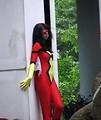 Free Stock Photo: Beautiful black girl posing in a superhero costume at Dragoncon 2008