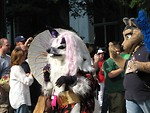 Free Stock Photo: A wolf and other animal costumes in the 2008 Dragoncon parade