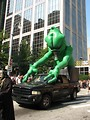 Free Stock Photo: Alien balloon on a truck at the 2008 Dragoncon parade
