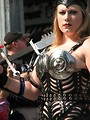 Free Stock Photo: Tall blonde in barbarian costume in 2008 Dragoncon parade