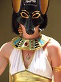 Free Stock Photo: Portait of a beautiful girl in Egyptian costume at Dragoncon 2008