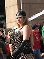 Free Stock Photo: Tall blonde woman in barbarian costume in the 2008 Dragoncon parade