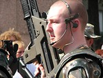 Free Stock Photo: Man in soldier costume at Dragoncon 2008