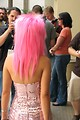 Free Stock Photo: Girl in pink hair and costume at Dragoncon 2008