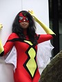 Free Stock Photo: Beautiful black girl posing in a superhero costume at Dragoncon 2008