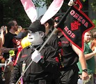 Free Stock Photo: Man in bunny costume in the 2008 Dragoncon parade
