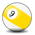 Free Stock Photo: Illustration of a 9 pool ball
