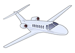 Free Stock Photo: Illustration of a small jet plane