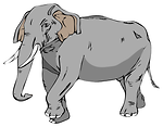 Free Stock Photo: Illustration of an elephant marching