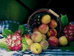 Free Stock Photo: A display of apples in a basket